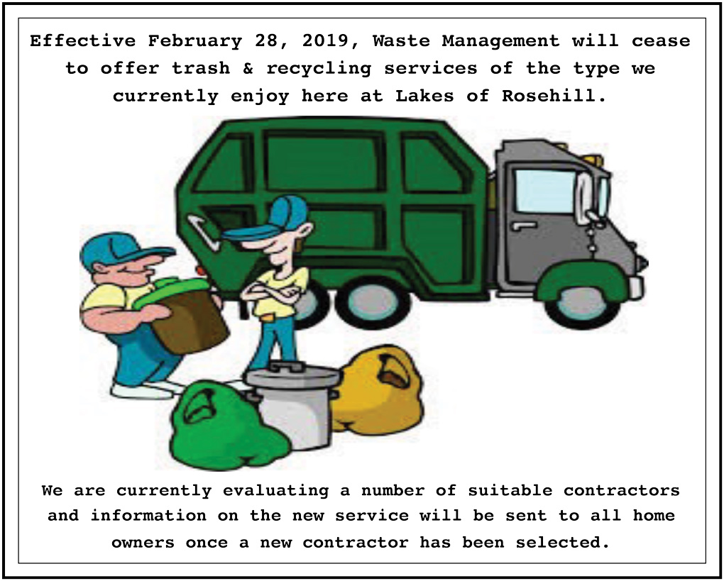 LOR Trash and recycline services will be changing